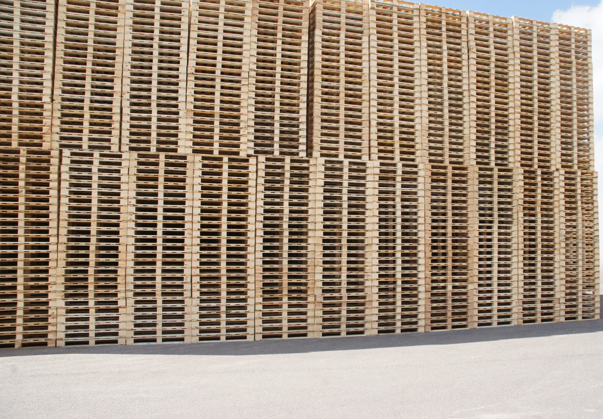 Stapels pallets