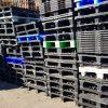 Partij kunststof pallet 80 x 120cm nestbaar gebruikt