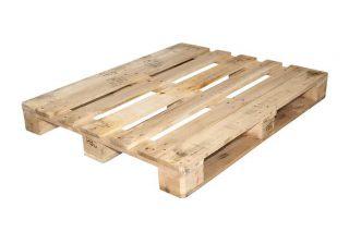 Blokpallet open zwaar 100x120cm, gebruikt