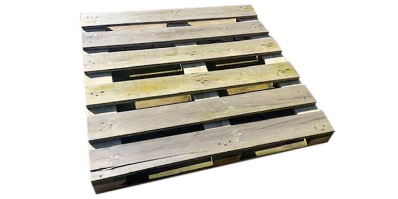 houten blokpallet open 112x112cm gebruikt bovenzijde