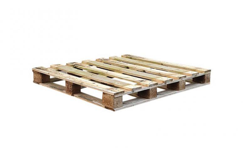 Blokpallet omlopend halfzwaar 110x120cm, nieuw
