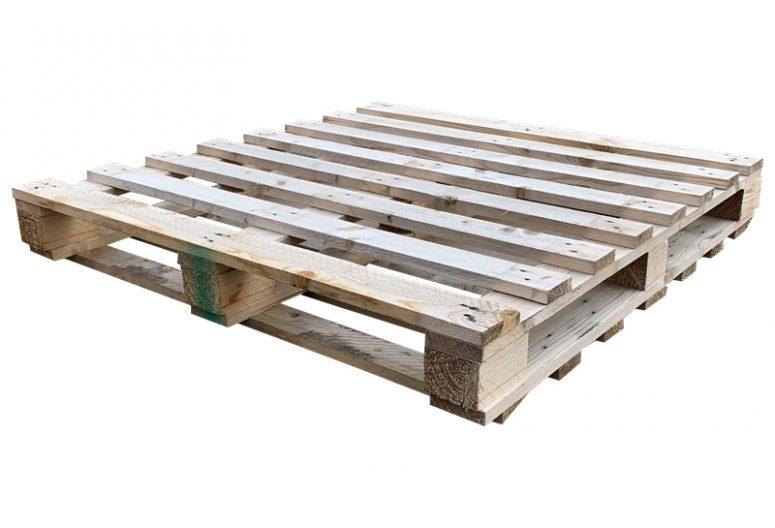 Blokpallet dubbeldeks zwaar 115x115cm, gebruikt