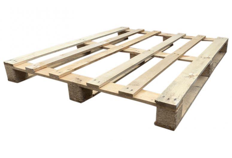 Blokpallet eenmalig open 6 lat 109x130, gebruikt