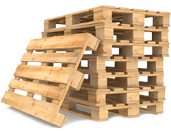 blok pallets stapel