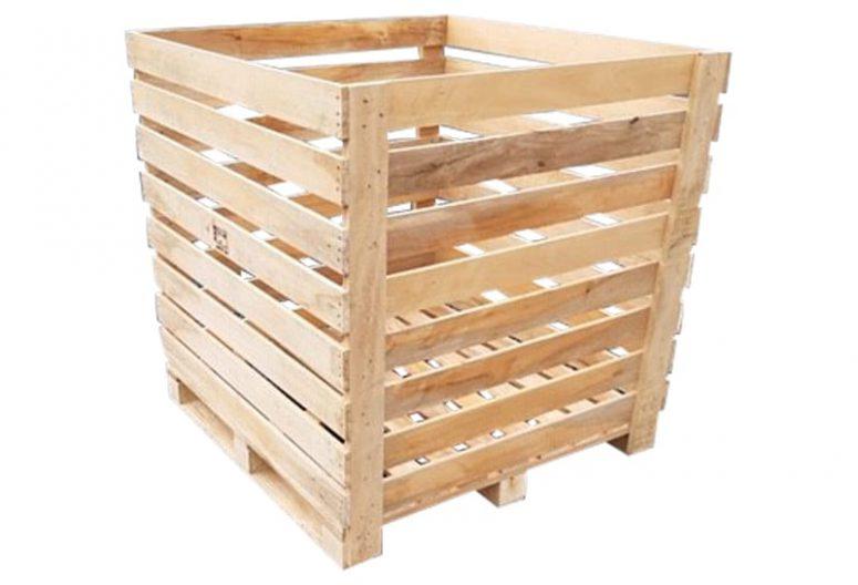 houten krat 110x114x100cm