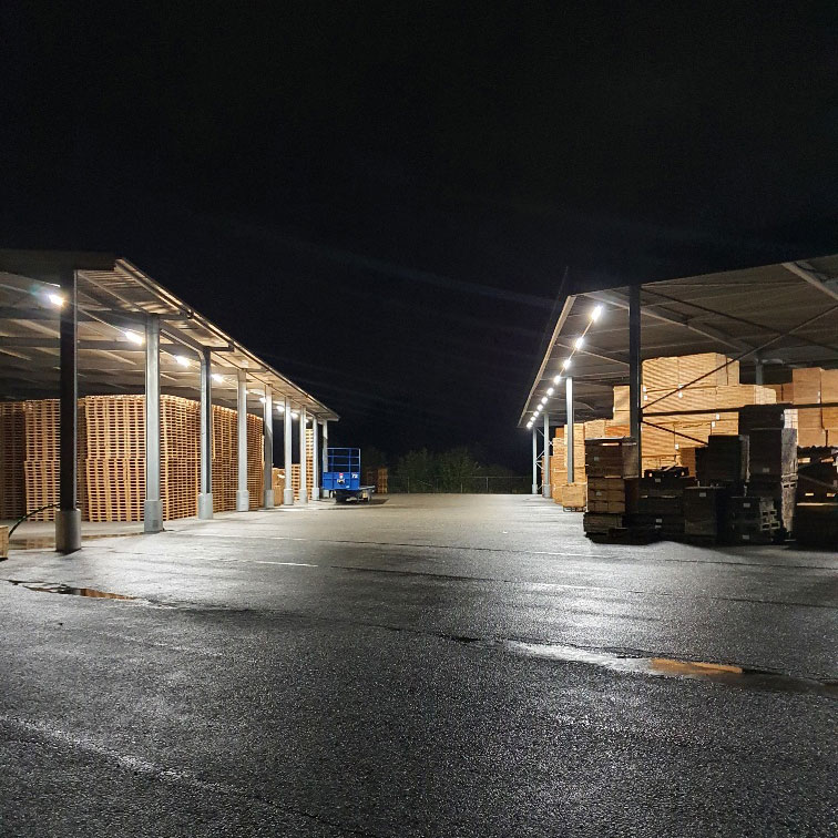 LED Verlicht palletcentrale productie 2
