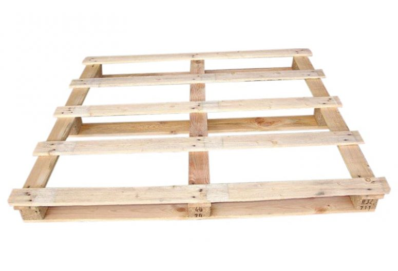 Houten blokpallet gebruikt 115x130 cm eenmalig