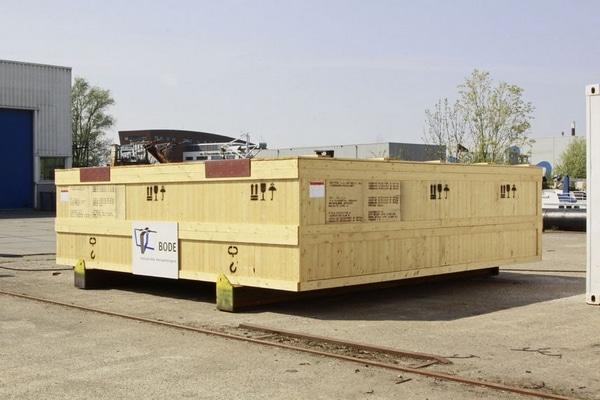 industriële export verpakking