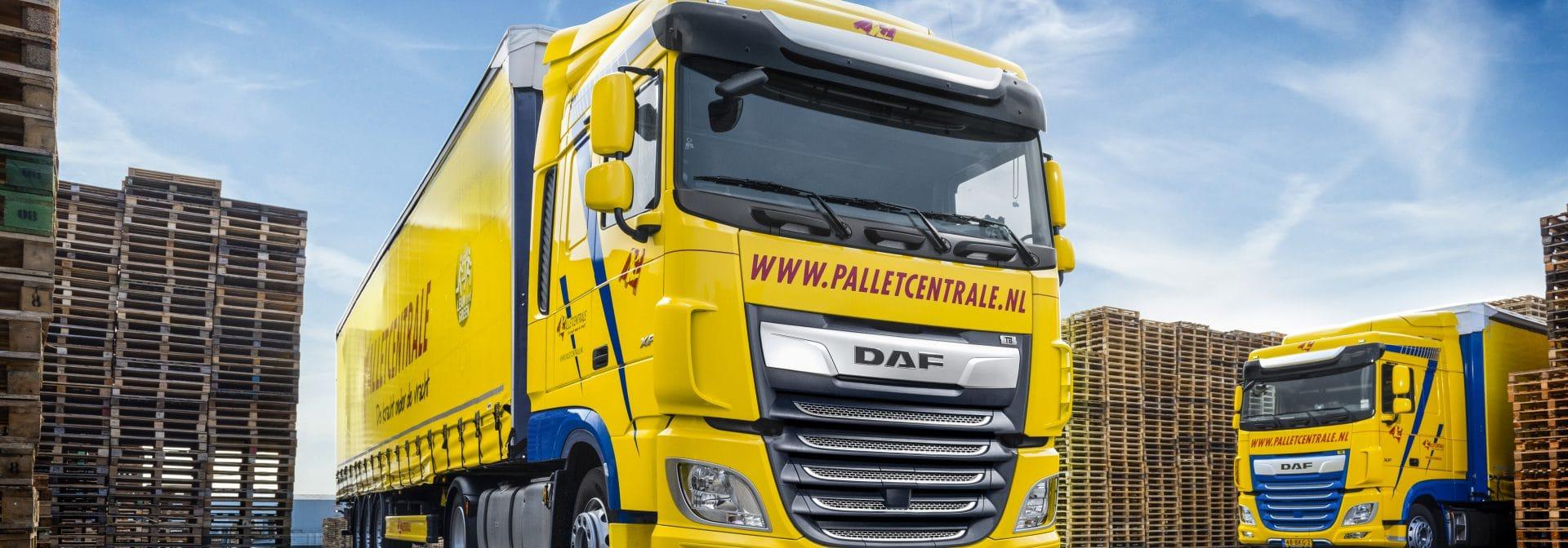Vrachtwagen Palletcentrale